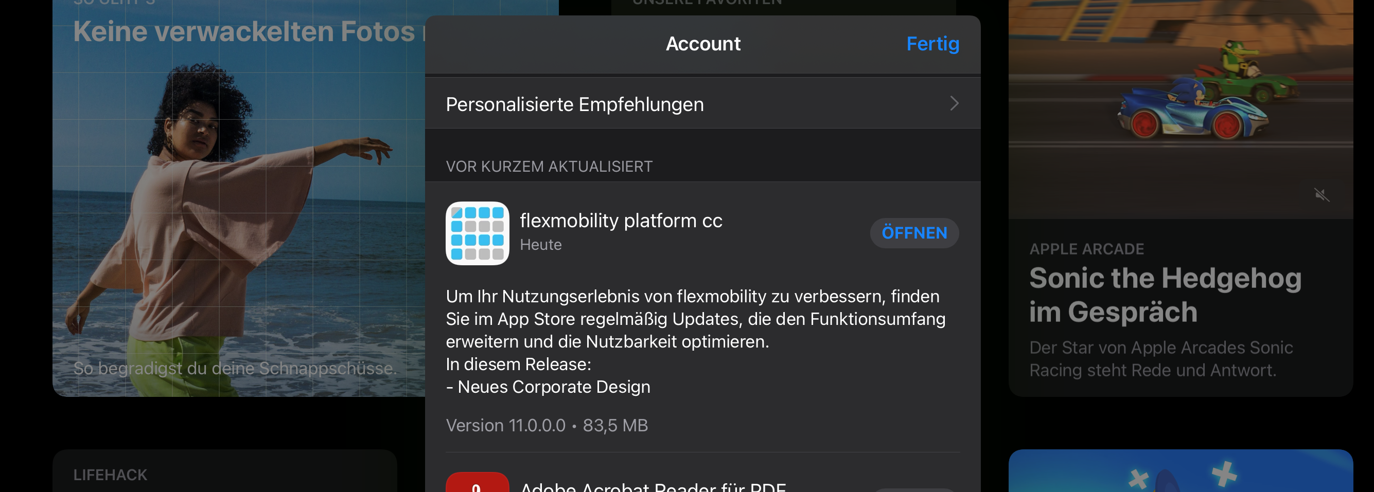 Business Apps Konfiguration flexmobility platform